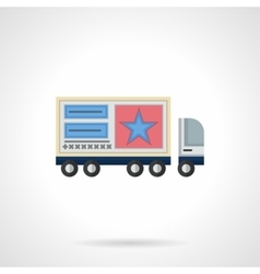 Advertisement on trucks flat color icon vector image vector image