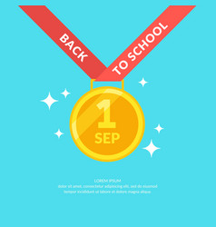 poster back to school modern graphics gold medal vector image
