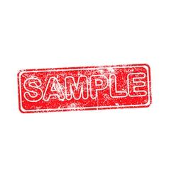 sample red grunge rubber stamp vector image