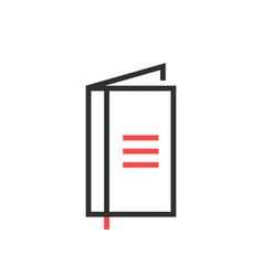 thin line black simple notebook icon vector image