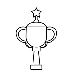 trophy star winner game outline vector image