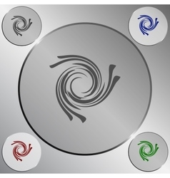 Abstract swirl logo vector image