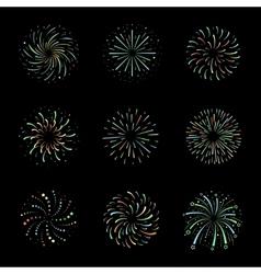Celebration Brightly festive firework bursts vector image vector image
