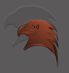 eagle had logo in bronze gradients with big shadow vector image