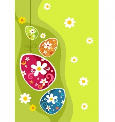 Easter decoration vector image vector image