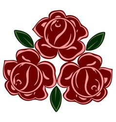 isolated of retro roses vector image vector image