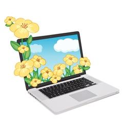 Laptop Display vector image