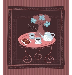 Romantic Table Background vector image vector image