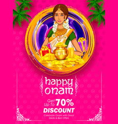 South indian keralite woman on advertisement and vector