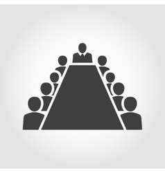 Board room members sitting around a table vector image