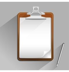 brown clipboard vector image vector image
