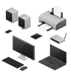 digital workstation isometric computers vector image vector image