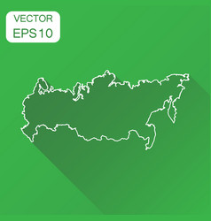 russia map icon business cartography concept vector image vector image