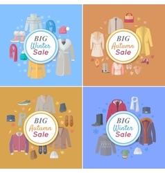 Seasonal Sales Concepts in Flat Design vector image