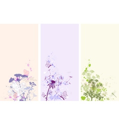 vertical floral banners vector image vector image