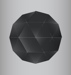 3d dark geometric realistic polygon sphere vector image