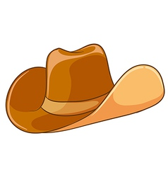A brown hat vector