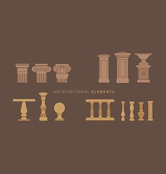A large series of architectural elements vector image
