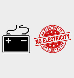 accumulator battery icon and distress no vector image