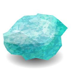 aquamarine precious stone gemstone mineral vector image