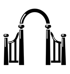 Archway metal icon simple black style vector