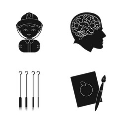 Art profession hobby and other web icon in black vector