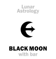 Astrology black moon with bar vector