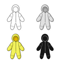 Baby bodysuit icon in cartoon style isolated on vector