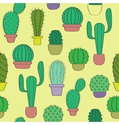 Background with cacti vector image