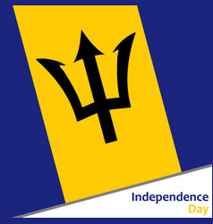 Barbados independence day vector