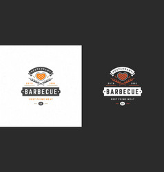 barbecue logo grill house or vector image