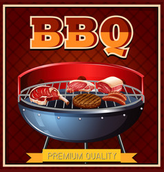 bbq beef on grill vector image