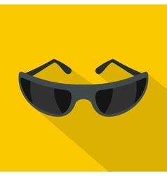 Black sunglasses icon flat style vector