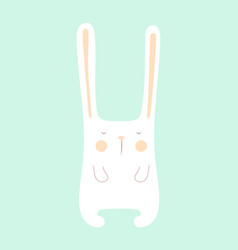 bunny isolated on blue vector image