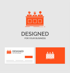 business logo template for competition contest vector image