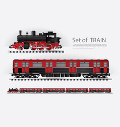 cargo train on a rail road vector image