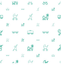 Carriage icons pattern seamless white background vector