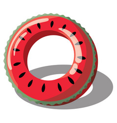 Cartoon inflatable circle for swimming vector