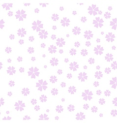 Cherry Blossom pattern spring floral background vector image