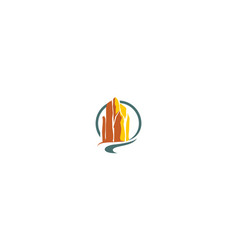 cliff hill logo icon vector image
