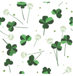 clover flowers seamless pattern design vector image