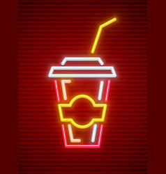 cola takeaway sparkling drink vector image
