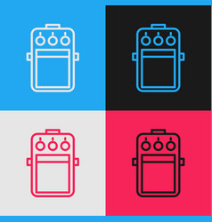 Color line guitar pedal icon isolated on color vector