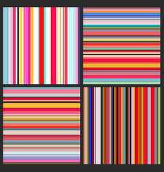 color lines background set vector image