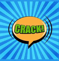 comic crack wording concept vector image