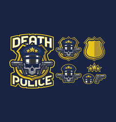 Death police mascot logo design vector