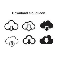 Download cloud icon template black color editable vector