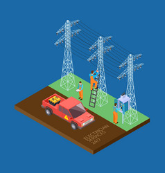 electrician city services 3d isometric vector image
