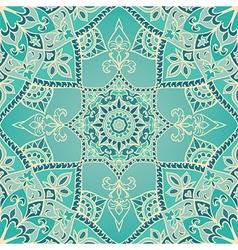 Elegant turquoise pattern vector