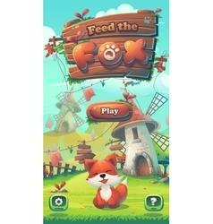 feed fox gui play window vector image
